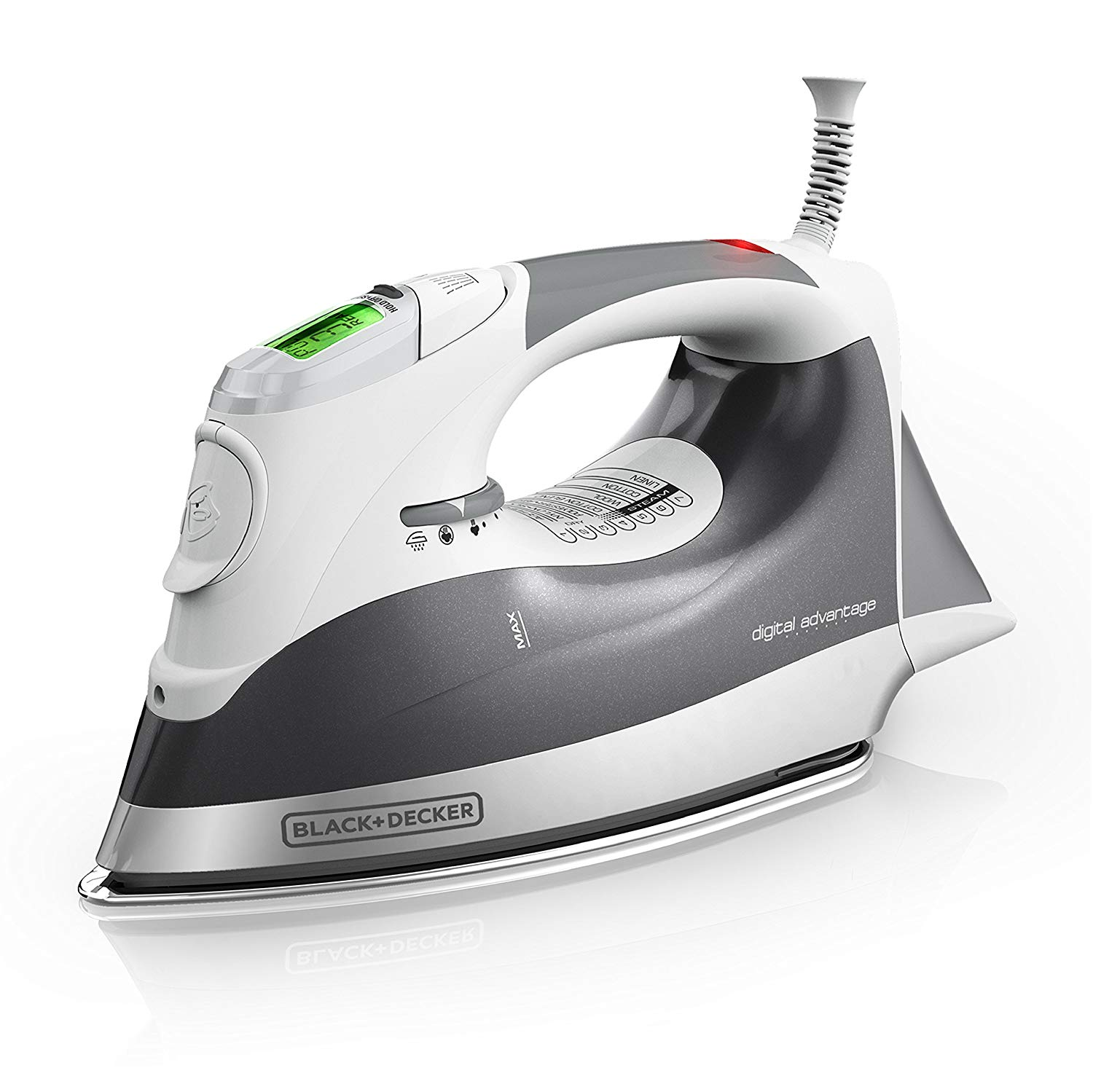 BLACK+DECKER Digital Advantage Professional Steam Iron, LCD Screen, Gray, D2030.