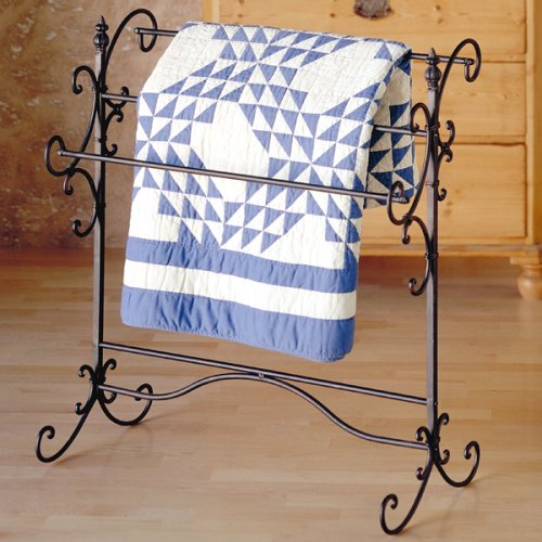 Southern Enterprises Scroll 3 Blanket Rack