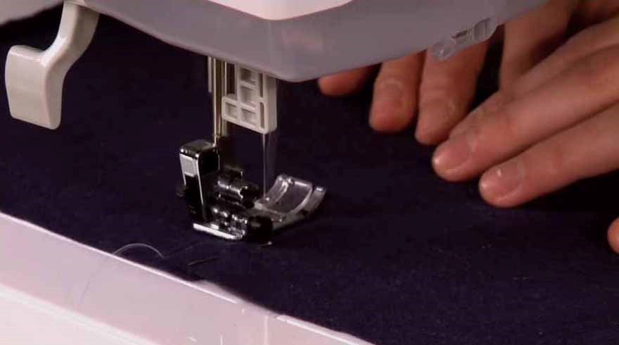 Sewing on wool fabric