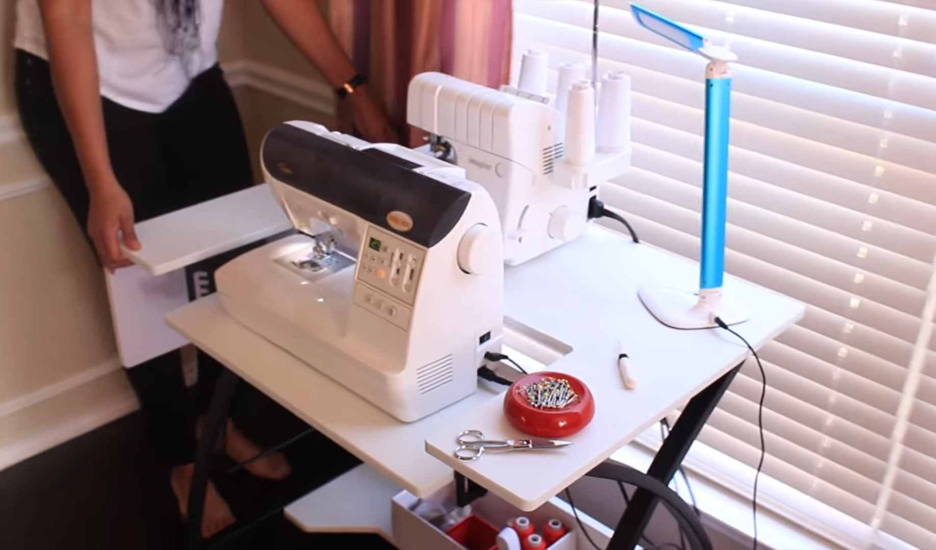 Precaution when setting up sewing table