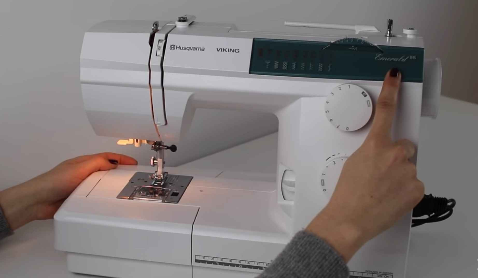 Sewing the machine